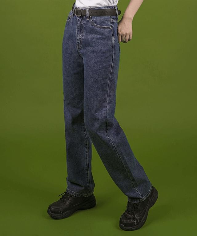 Dark Blue Boy Fit Denim Pants