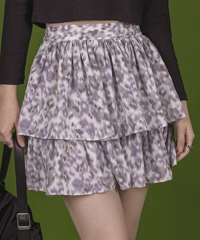 Bag Flower Cancan Mini Skirt