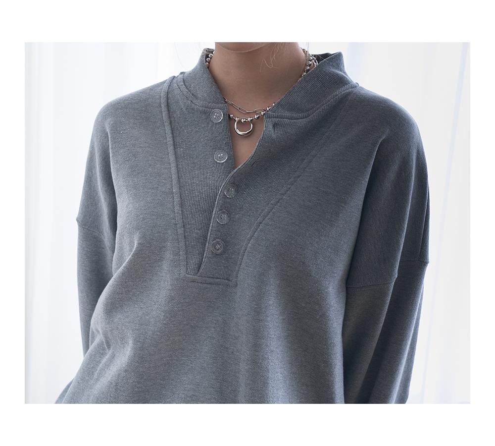 Clink Button Overfit Sweatshirt