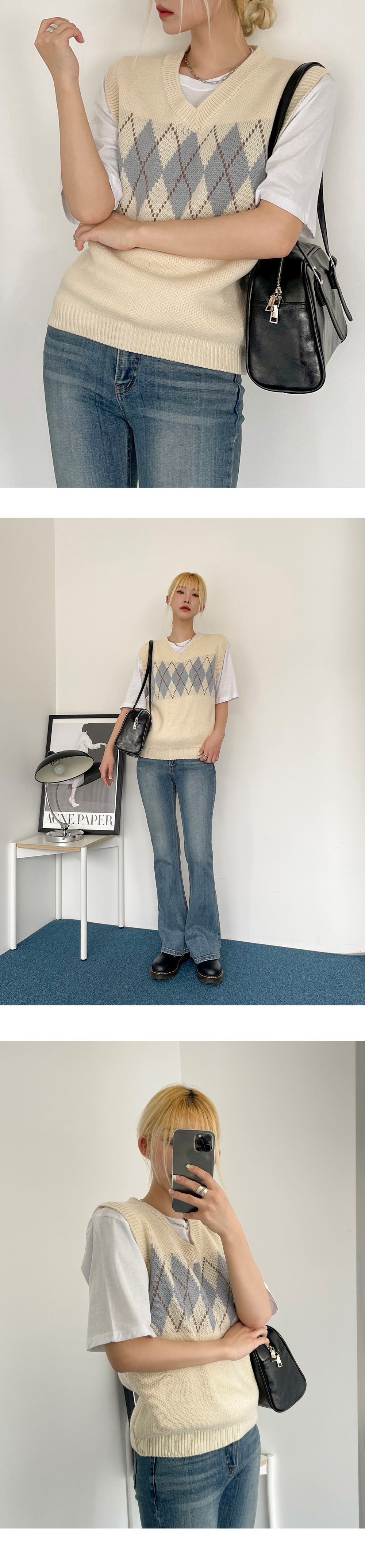 Eve Argyle Knitwear Vest