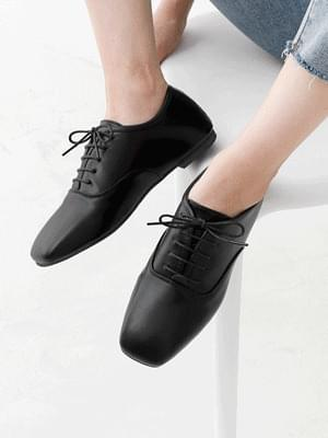 Isshu Square Toe Oxford Flat Shoes 7060 ♡1st sold out♡