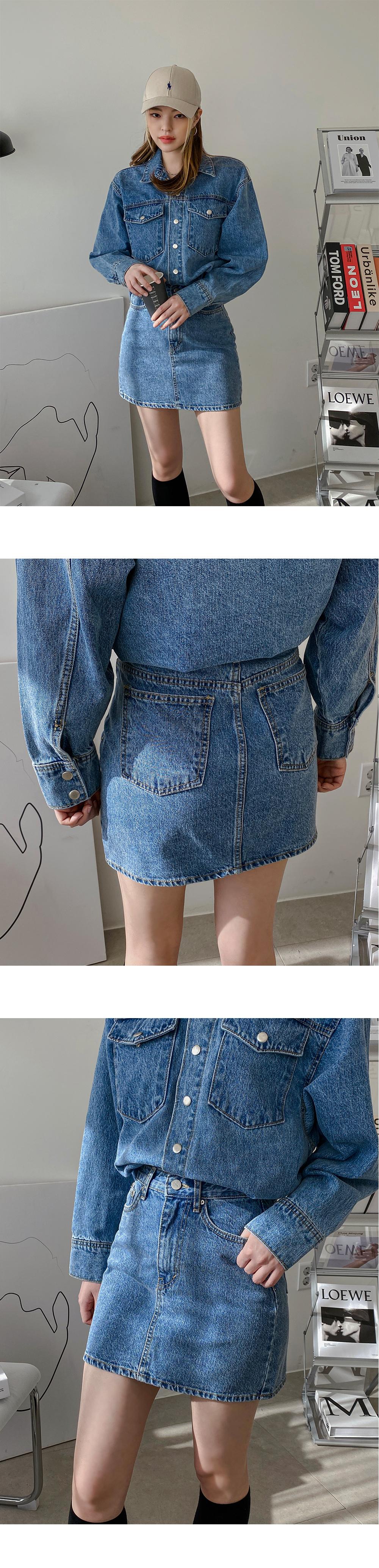 Rosley mini denim skirt