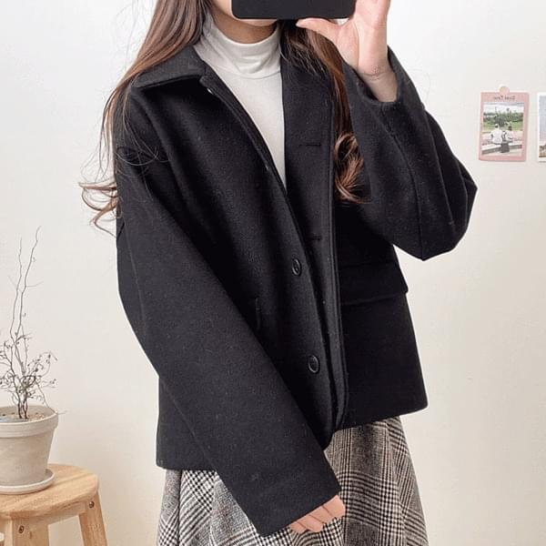 韓國空運 - Jamong pocket wool jacket 夾克外套