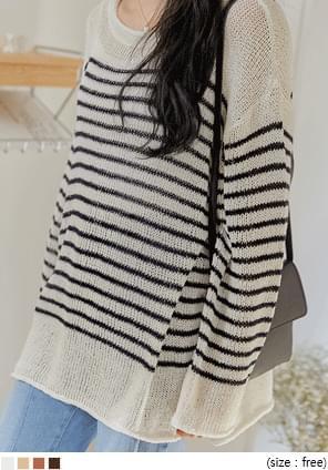 Side Slit Loose Knit Top - 2 Types