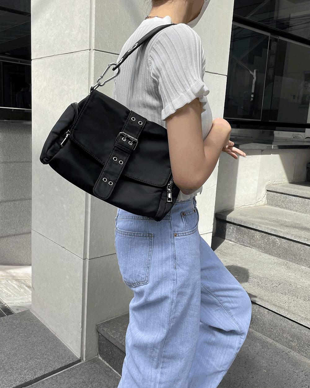 Cloby Eyelet Strap Belt Pocket Shoulder Bag