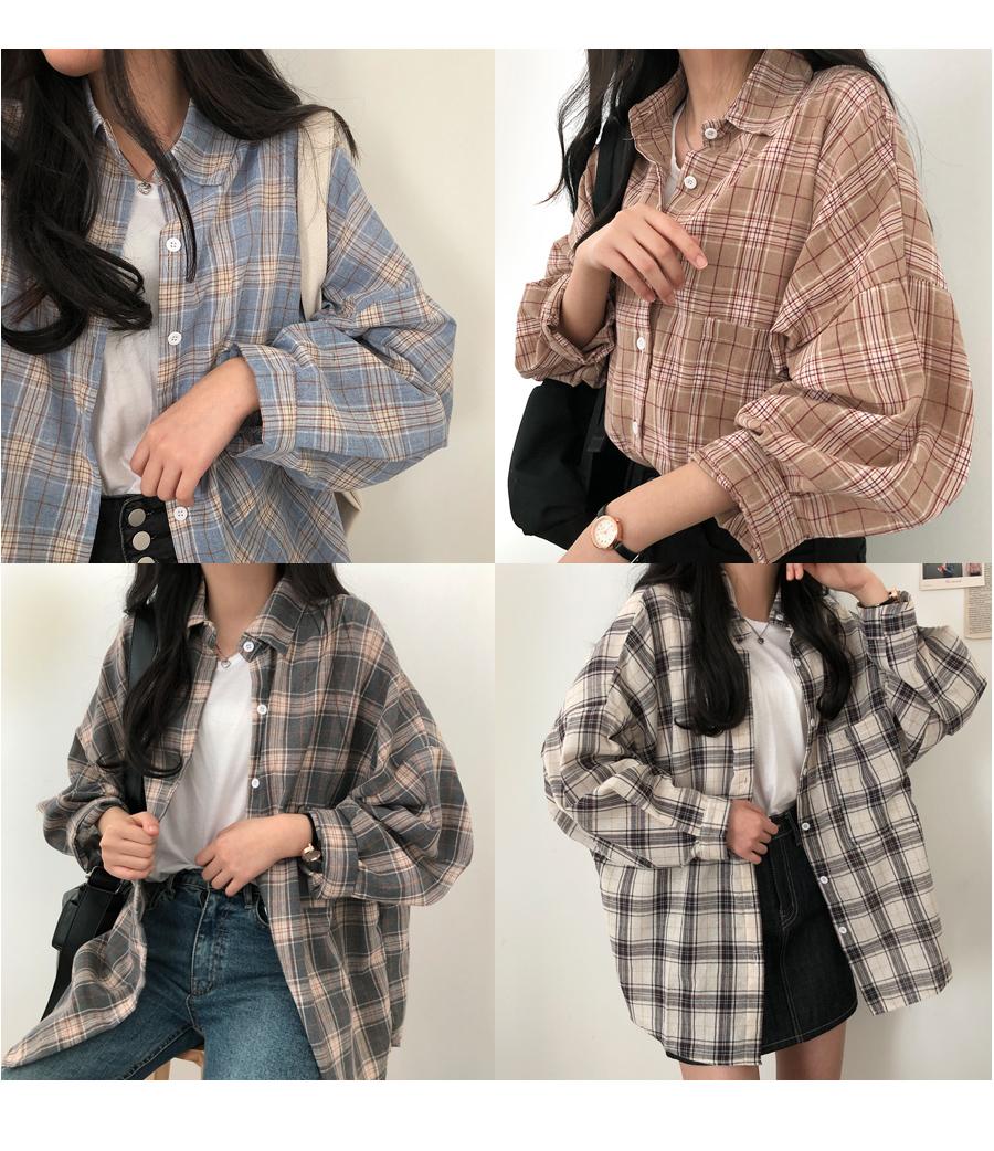 Mimi Avant-Fit Comfortable Check Shirt Shirt