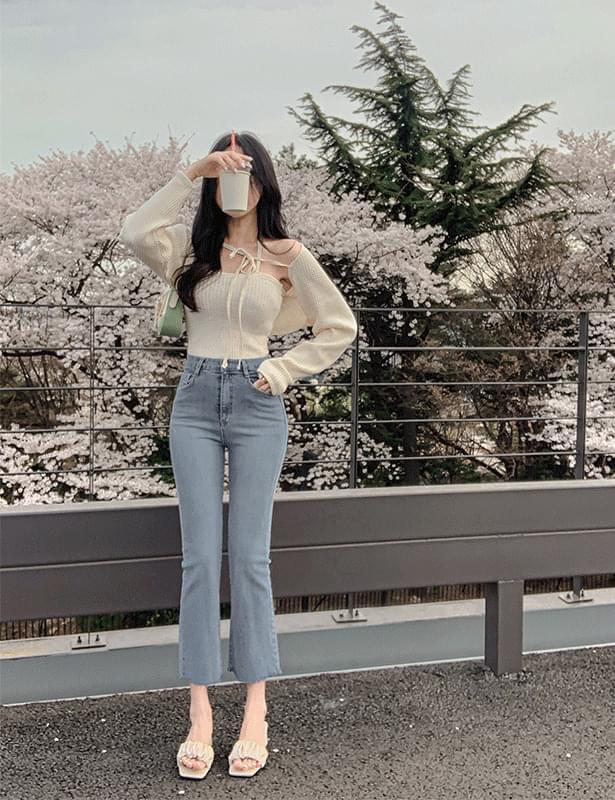 韓國空運 - Hayu slim Flared pants 牛仔褲