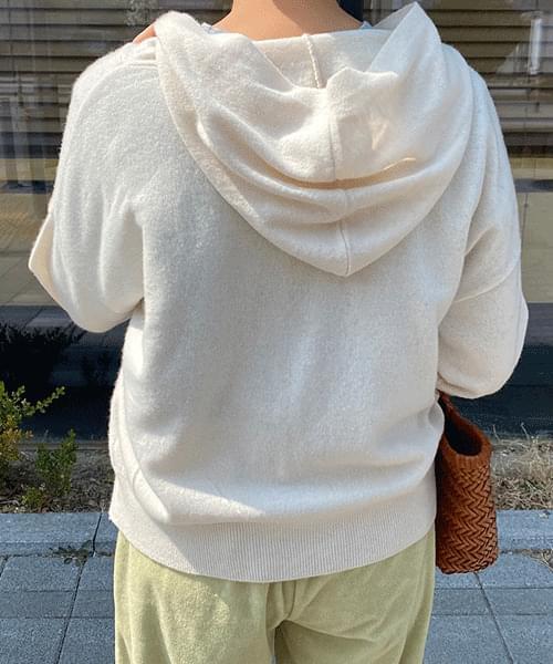 Innerf Knitwear Hooded Zip-up