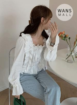 bl4236 milled shirred blouse
