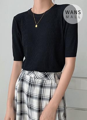 kn4238 Moisture Short Sleeve Round Knitwear