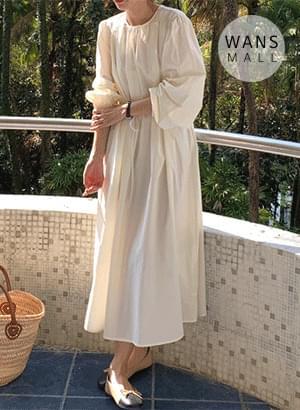 op3937 Miele Waist Strap Long Dress