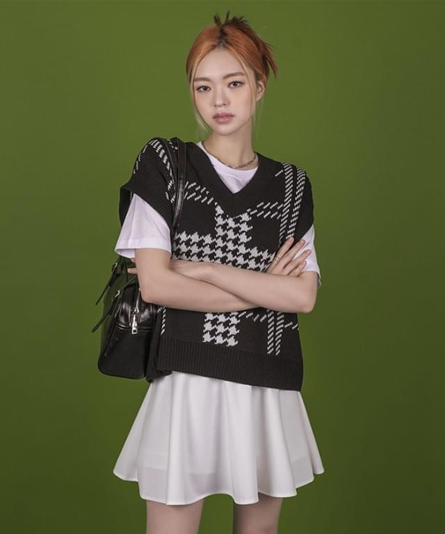Dorien Hound V-Neck Knitwear Vest