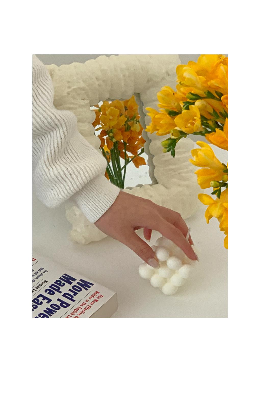 Rail round neck knit / ivory