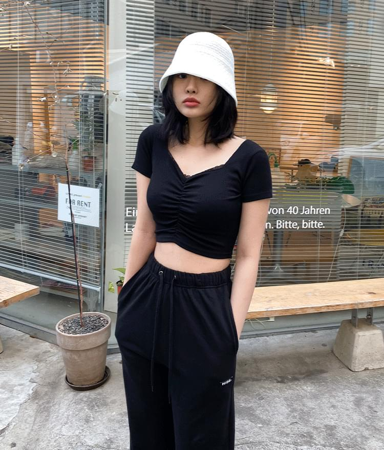 Hyde Lace Crop Top Hyde Mirror Wide Pants