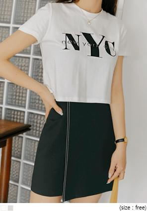 Lettering Print Cropped T-Shirt