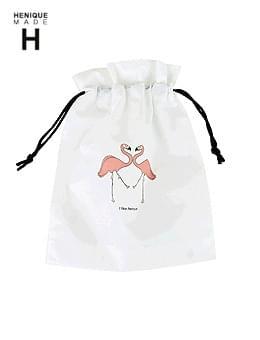 韓國空運 - ♥♥ Flamingo Pouch Beach Bag 手拿包