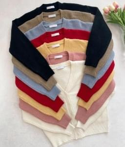 Basic V-Neck Knit Cardigan