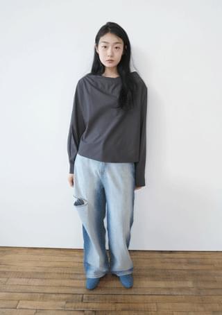 rayon draped blouse