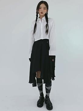 Linen Unfoot Long Skirt