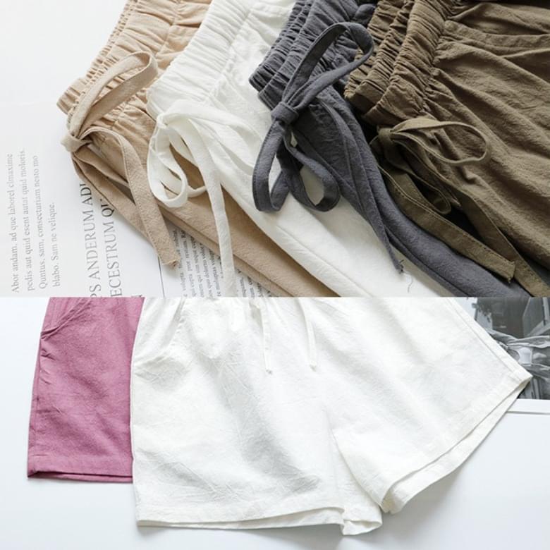 Linen Wide A-Line Shorts