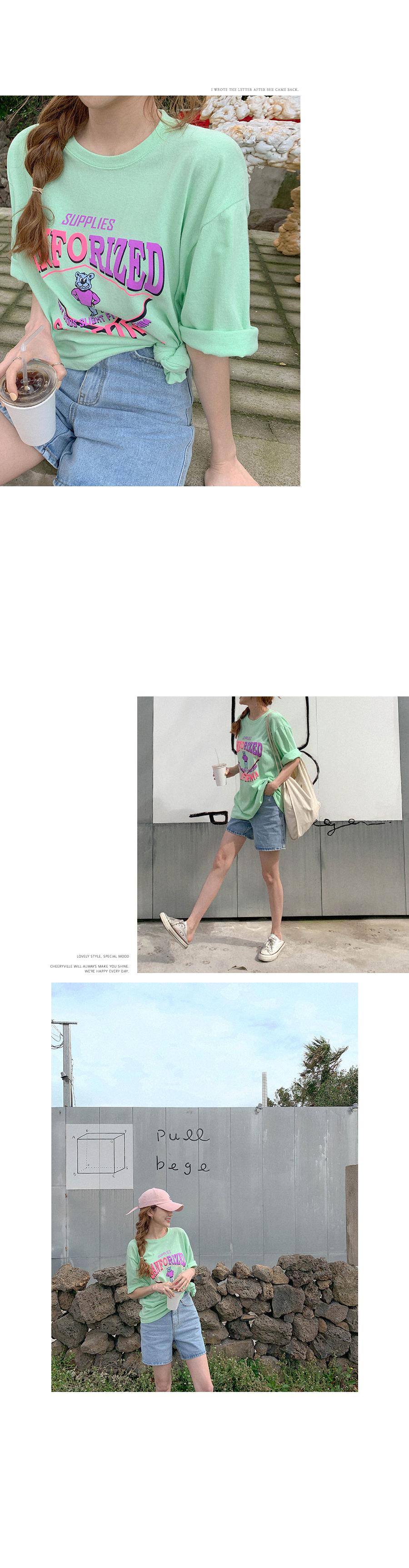 Color Bear Loose-fit Short Sleeve T-Shirt