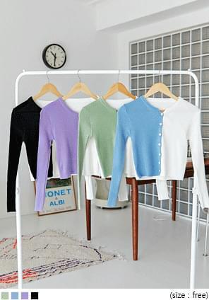 Color Block Cropped Cardigan