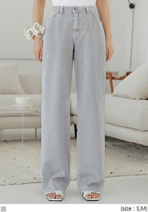 Light Gray Wide Leg Pants