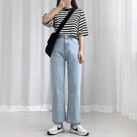 Wide Fit Light Blue Pants