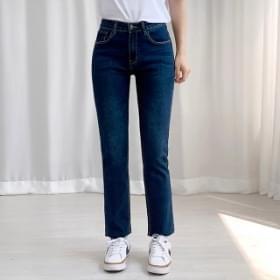Denim Faded cut pants