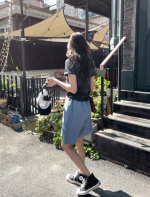Kai string pintuck half pants