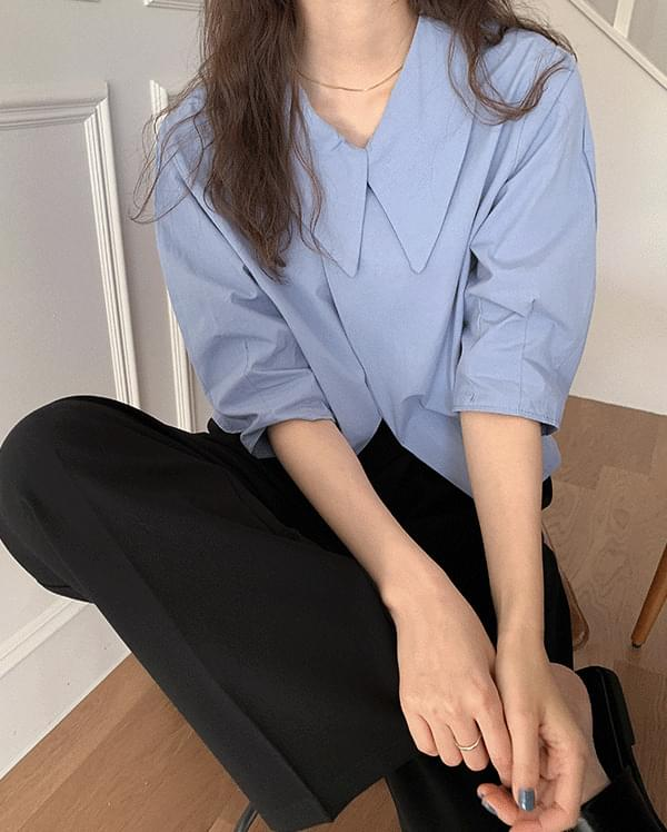 #Any place Jenny wrap cotton collar blouse 襯衫