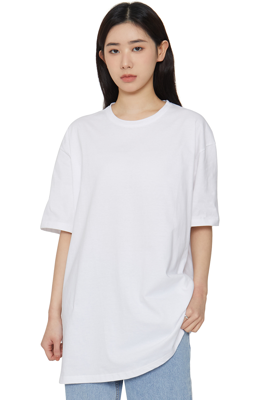 Unisex Basic Half Round Neck T-Shirt