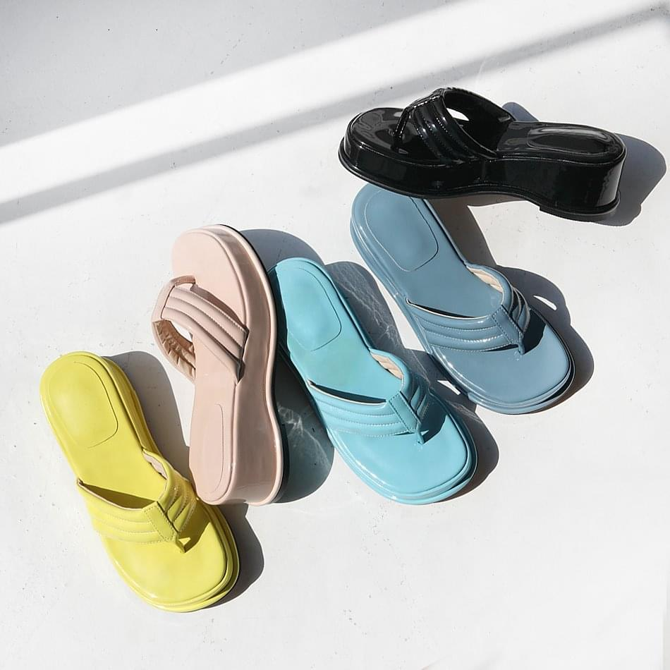 Syrup full-heeled slippers 6cm