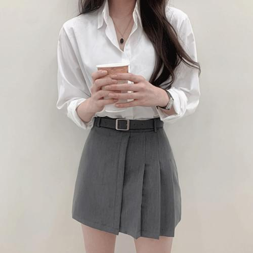 Minimalist Half Pleated Mini Skirt P#YW602 (Delayed delivery)