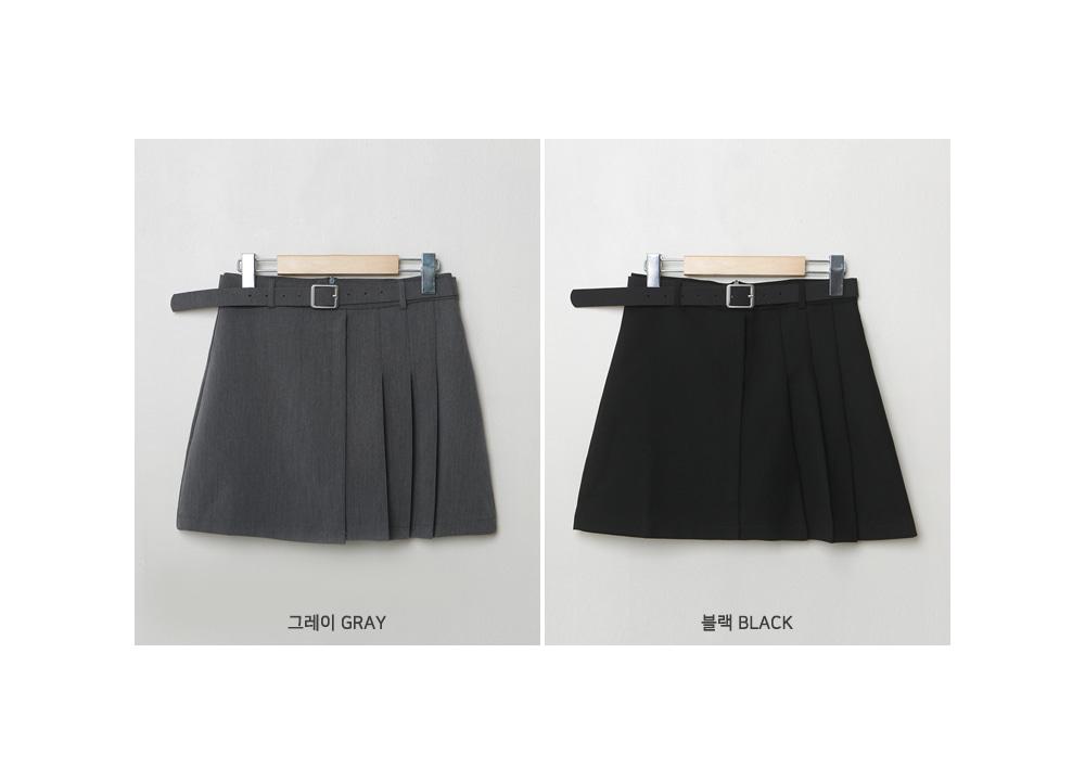 Minimalist Half Pleated Mini Skirt P#YW602