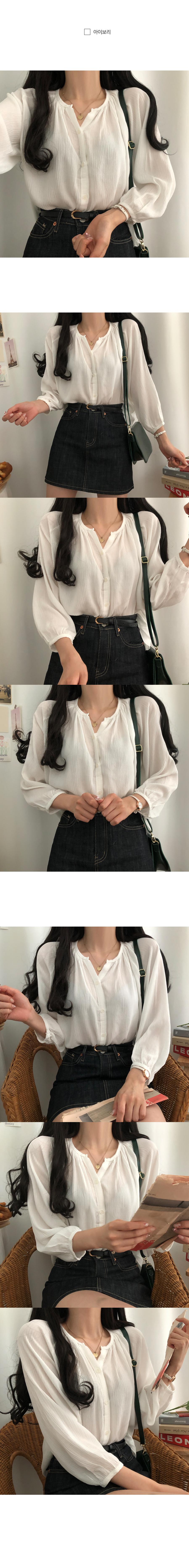 Tam Tam Loose-fit linen-feel blouse