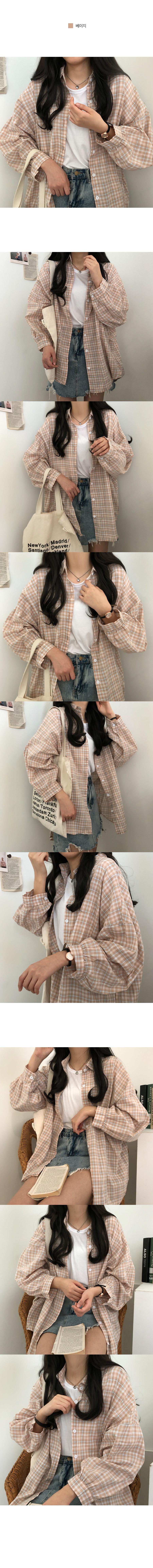 Avant-garde check shirt Shirt with subtle colors