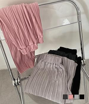 Ribbed pleated pants with attractive Ribbed