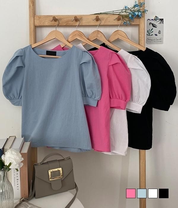 Bien puff short-sleeved blouse 襯衫