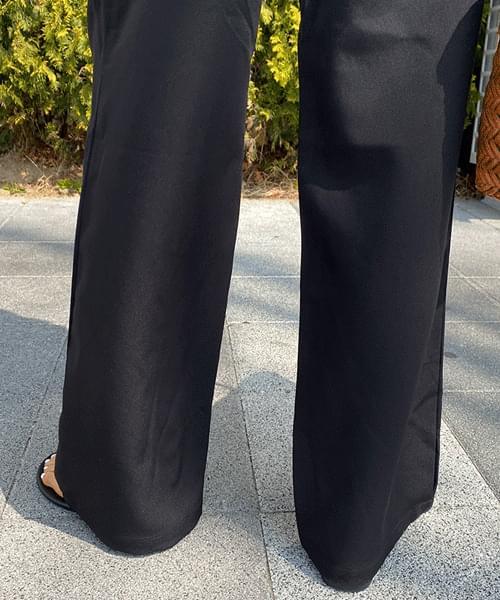 Long pintuck wide slacks