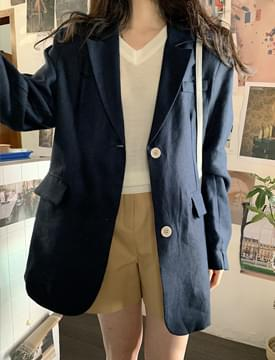 Megan single linen jacket