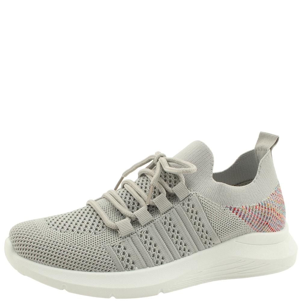 Knitwear Spandex Sporty Sneakers Gray