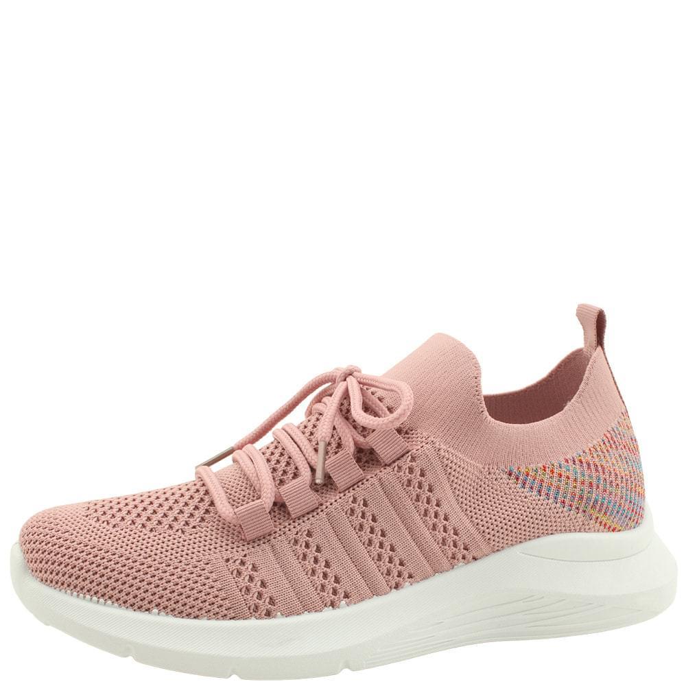 Knitwear Spandex Sporty Sneakers Pink