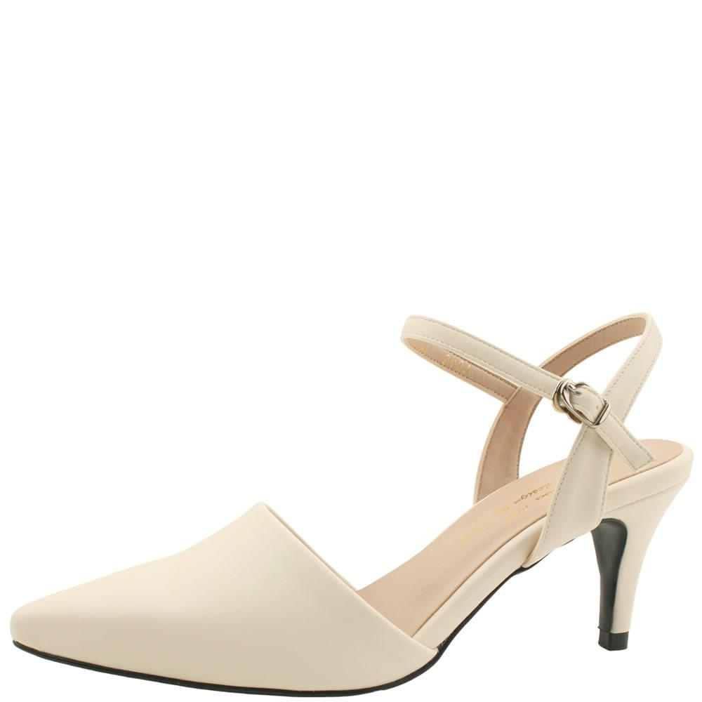 Mary Jane Stiletto High Heels 8cm Beige