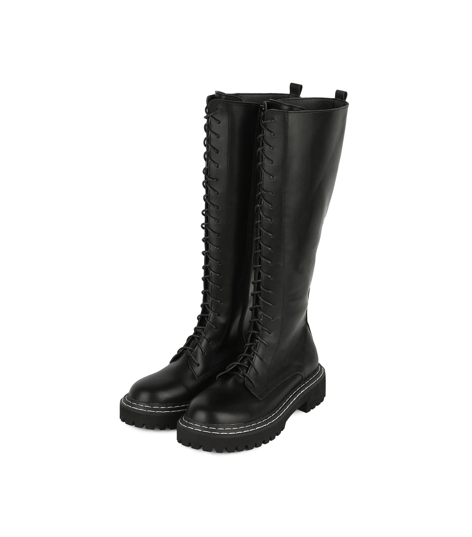Brave lace-up long walker boots