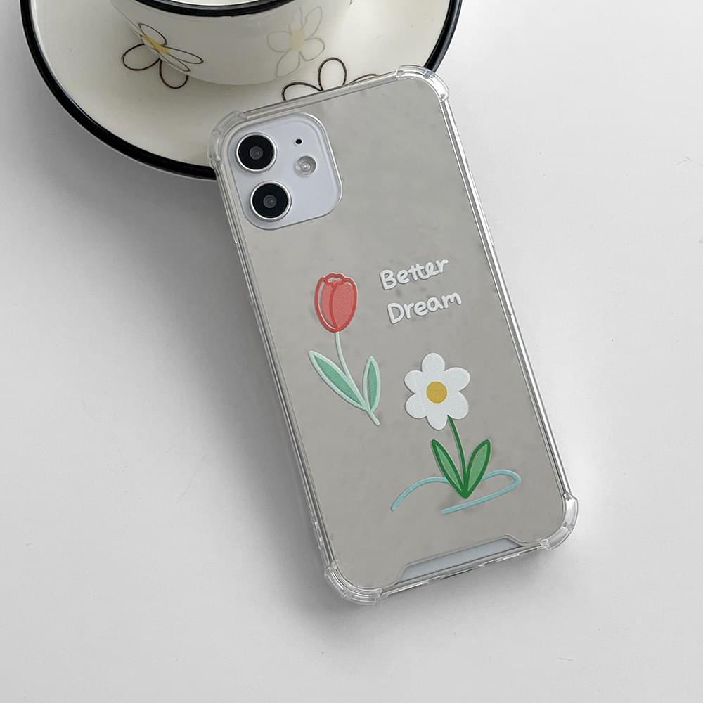 Better Dream Flower Mirror Mirror iPhone Case