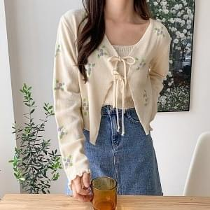 Cheongha Flower Cardigan SET