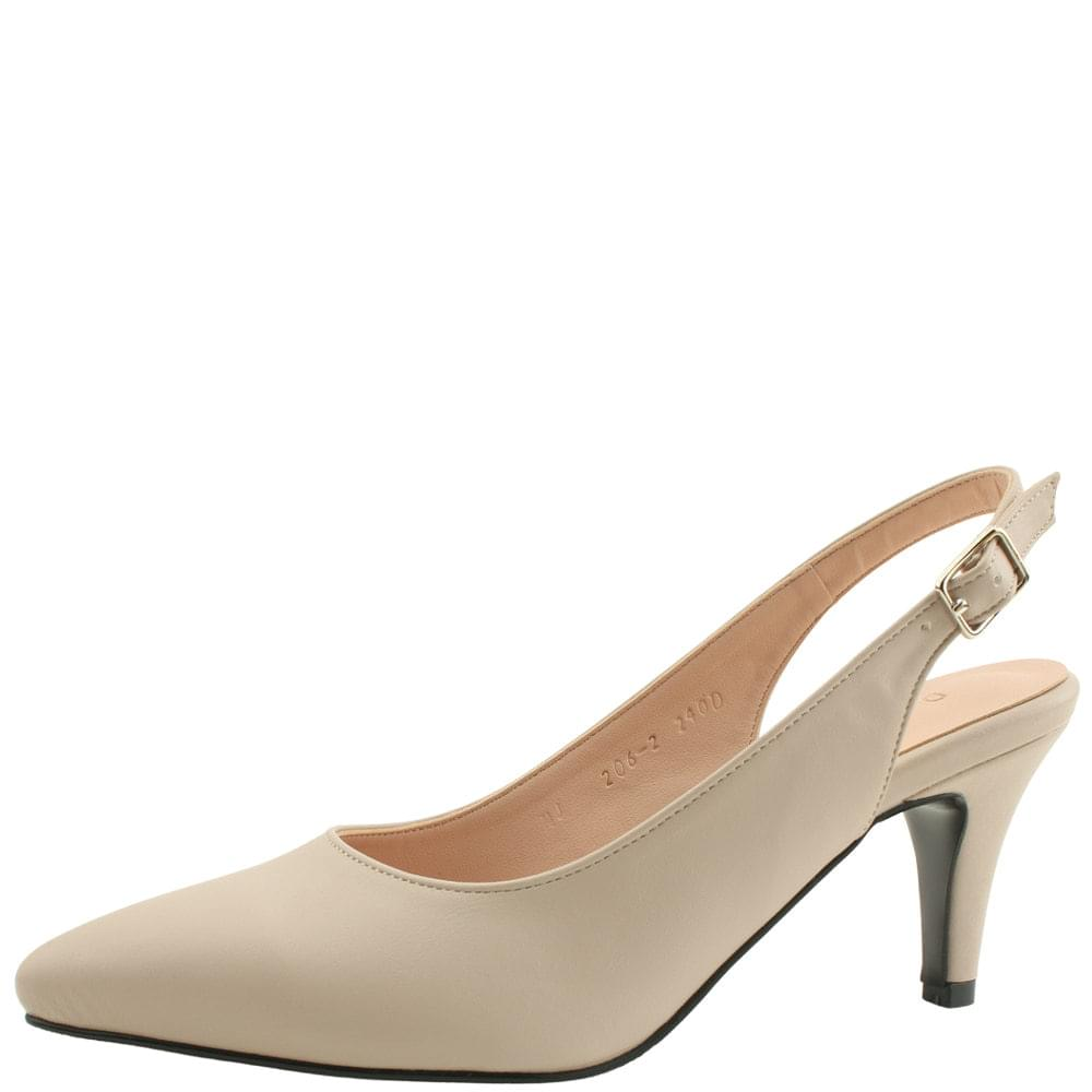 Basic Slingback Stiletto High Heels Beige