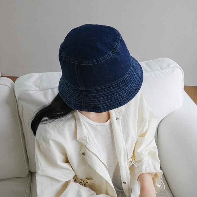 Simple Denim Bucket Hat 4colors