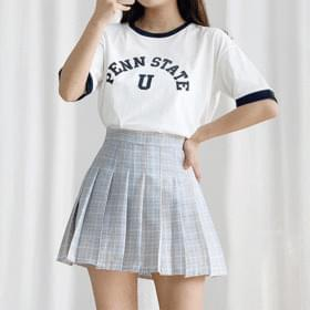 State Color Crop Short Sleeve Tee